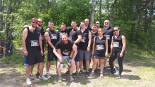 Members of the Moncton Sheriff Department participated in a Mud Hero Challenge. The group displayed excellent teamwork in completing the fun and difficult course. Pictured above is photo taken before the start of the run.