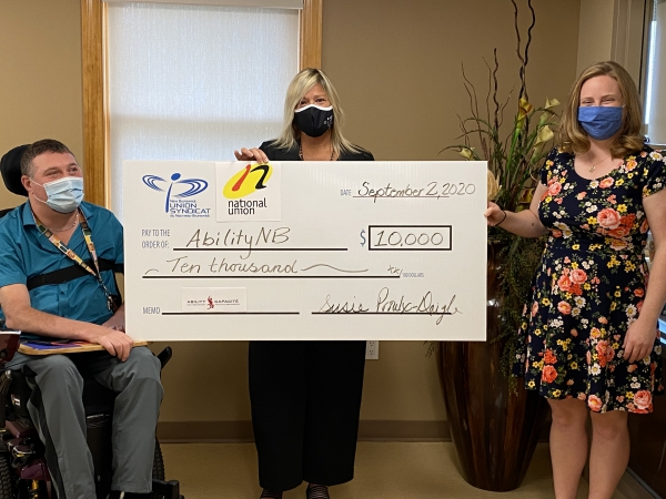 NBU and NUPGE make donation to Ability NB