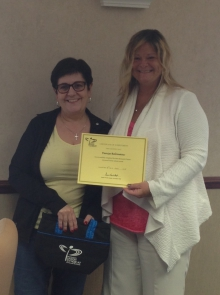 Several New Brunswick Union members recently completed the Advanced Union Activists course. They were presented with a certificate by NBU President Susie Proulx-Daigle. In the photo from left are Denise Babineau and Proulx-Daigle.